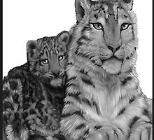 Snow Leopard Painting by Ashley Roberts