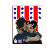 DEMOCRATIC CAMPAIGN 2012: OBAMA'S EMBRACE Art Print