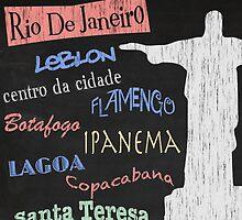 Rio de Janeiro Tourism Poster by FinlayMcNevin