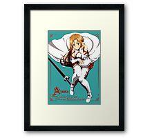 Asuna's Love for Kirito (Any Color) Framed Print