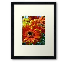 Flowers from my date... Framed Print