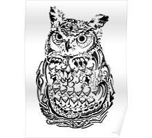 Ornate Owl Poster