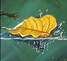 Floating Leaf by Kim Donald