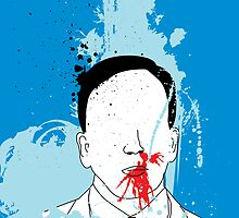 NOSE BLEED IS A NORMAL THING FOR THIS WELL DRESSED MAN by Alvaro Sánchez