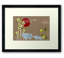 Ellie Family In The Forest Framed Print