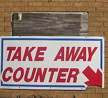 Take Away Counter by Rosie Collins