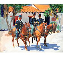 Soldiers in Old Town San Diego by Riccoboni Photographic Print
