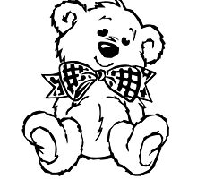 Teddy Bear with Bow Tie by NetoboDesigns