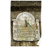 Vertical Sundial, St Buryan Parish Church Poster