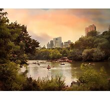 Central Park Lake Photographic Print