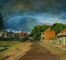 Late afternoon, Hill End by Freda Surgenor