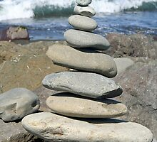 Stacked Rocks by Lynn Bawden