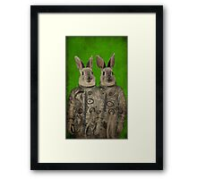 We are ready green Framed Print