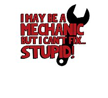 I may be a mechanic, but I can't fix stupid! Photographic Print