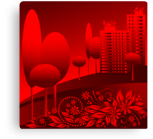 red urban Canvas Print