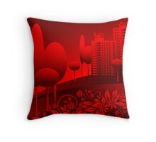 red urban Throw Pillow