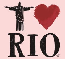 I Heart Rio de Janeiro (blk) by Tai's Tees Kids Clothes