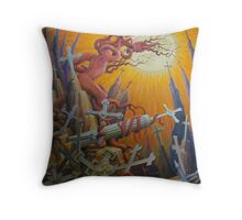 25 CROSSES by Henry David Potwin Throw Pillow