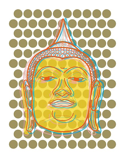 Buddha's Smile Pop Art by fatfatin