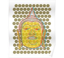 Buddha's Smile Pop Art Poster