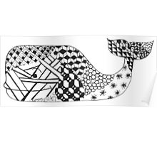 Zentangle Whale Poster