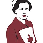 Retro Red Cross Nurse by Beth Howard