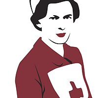 Retro Red Cross Nurse by Beth Howard