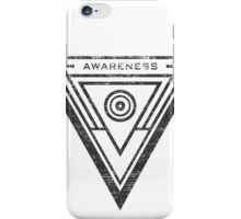 Awareness - Typography and Geometry iPhone Case/Skin
