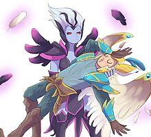 Dota 2 - Skywrath Mage and Vengeful spirit by keterok