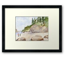 Fun at the beach! Framed Print