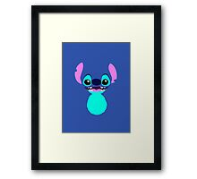 Happiness in Blue Framed Print