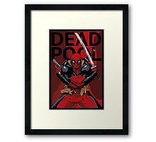 Deadpool - Pose - color Framed Print