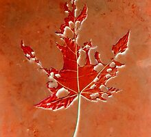 Somebody had Leaf for Lunch - Rust by Mike Solomonson