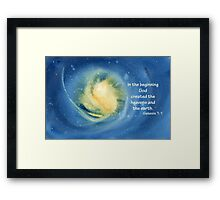 The Beginning- Genesis 1:1 Framed Print