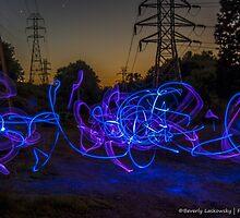 Light Painting at Sunset by BLaskowsky