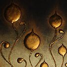 ABSTRACT BOTANICAL NOUVEAU COLLECTION ~ BRONZE TULIPS by LacewingDesign