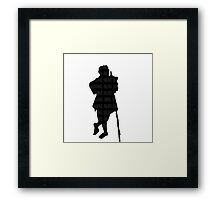 Bilbo Baggins and His Silhouette Framed Print