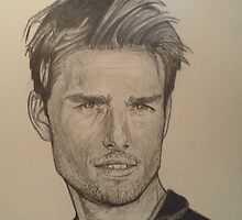 Tom Cruise drawing by RobCrandall