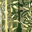 BAMBOO ~ SILHOUETTE COLLECTION ~ ACRYLIC & ENAMEL ON CANVAS by LacewingDesign