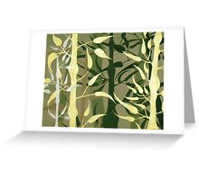 BAMBOO ~ SILHOUETTE COLLECTION ~ ACRYLIC & ENAMEL ON CANVAS Greeting Card