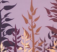 PURPLE VINE ~ SILHOUETTE COLLECTION ~ OIL AND ENAMEL  by LacewingDesign