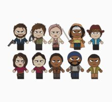 The Walking Dead - Main Characters Chibi - AMC Walking Dead Kids Clothes