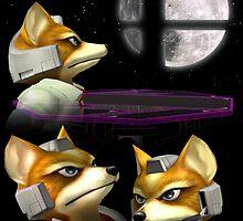 Three Fox Moon by Banobo