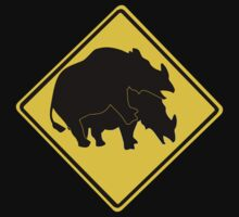 RHINOS CROSSING ROAD SIGN by SofiaYoushi