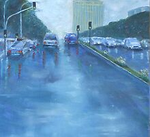 Rainy Day Traffic by Estelle O'Brien