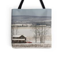 The Fields are White with Snow Tote Bag
