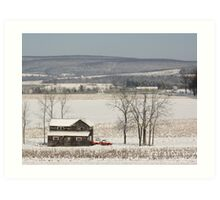 The Fields are White with Snow Art Print