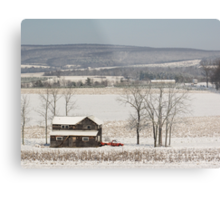 The Fields are White with Snow Metal Print