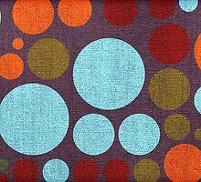 Retro polka dot painted canvas by Nhan Ngo