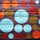Retro polka dot painted wood by Nhan Ngo